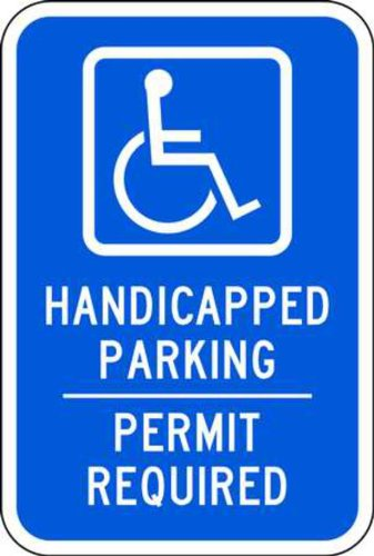 (ZING 2212 Eco Parking Sign, Handicapped Parking Permit, 18Hx12W, Engineer Grade Prismatic, Recycled Aluminum)