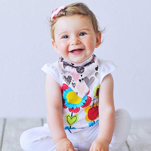 10-Pack Baby Girl Bandana Drool Bibs Gift Set for Drooling Teething by MiiYoung by MiiYoung (Image #5)