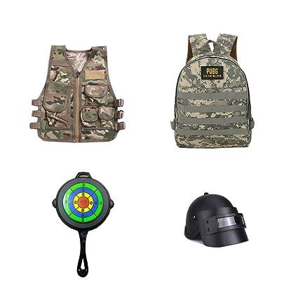 LXY&AI Chaleco Antideslizante Táctico para Niños - Juegos De CS Y Otros Excelentes Chalecos Militares -