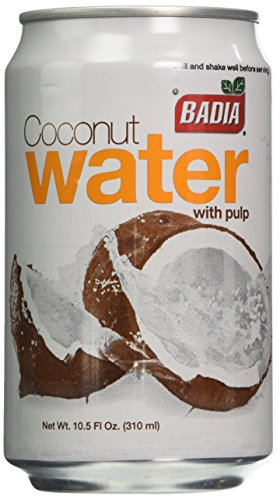 Badia Spices inc Water, Coconut, with Pulp, 10.50-Ounce (Pack of 24)