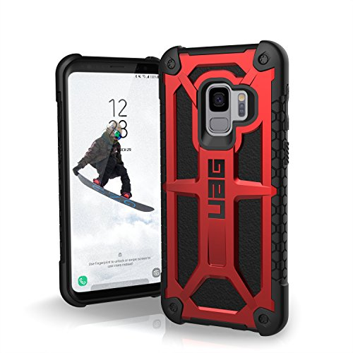 (URBAN ARMOR GEAR UAG Designed for Samsung Galaxy S9 [5.8-inch Screen] Monarch Feather-Light Rugged [Crimson] Military Drop Tested Phone Case)