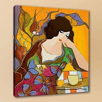 "Itzchak Tarkay oil painting TWO WOMAN 12x12/"" Decor,Art QUALITY CANVAS PRINT"