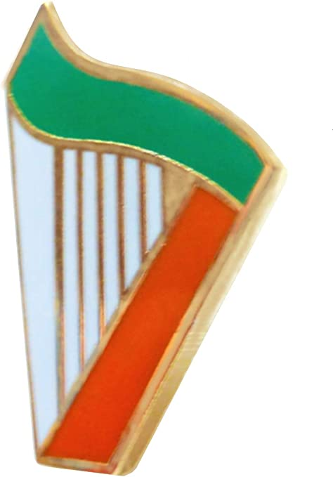 Ireland Irish Harp Flag Pin Badge Amazon Co Uk Kitchen Home