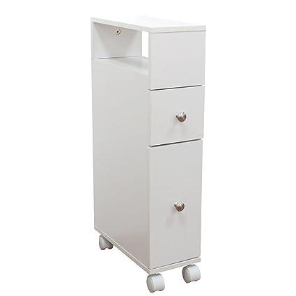 zxjoy baño muebles oficina Contenedor con ruedas de muebles de baño lavabo Armarios de muebles de