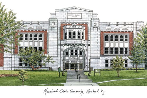 Morehead State University Lithographic Print ()