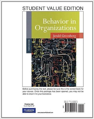 Behavior in organizations student value edition 10th edition behavior in organizations student value edition 10th edition 9780136090274 human resources books amazon fandeluxe Images