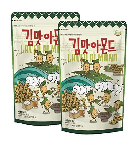GLM laver almonds - Honey butter, salt, laver salty almond(7.4 Ounce x 2)