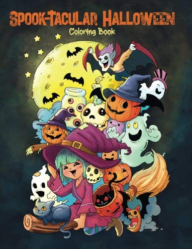 Spook-Tacular Halloween - Coloring Book: A Fun Coloring Book for Adults and Kids (Coloring Gifts for Women, Boys and Girls)