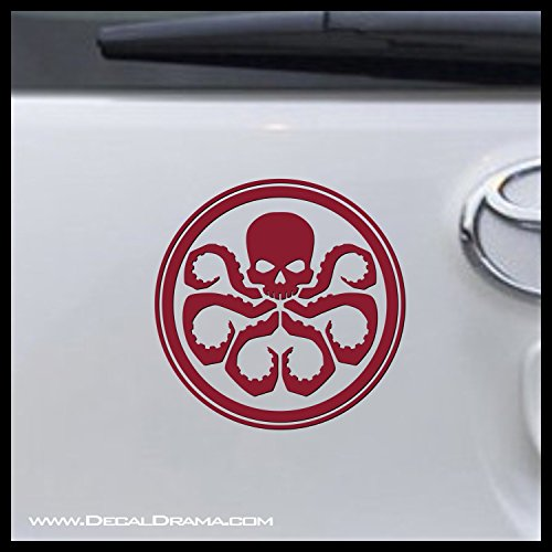 Hydra emblem SMALL Vinyl Decal   Marvel Comics Avengers Ironman Hulk Thor Captain America Hawkeye Black Widow Shield Stan Lee   Cars Trucks Vans Laptops Windows Cups Mugs   Made - Truck Hawk