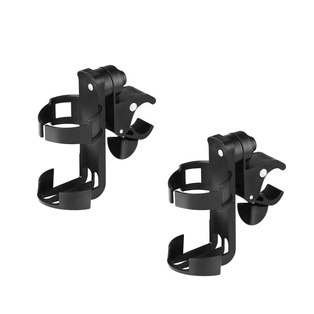 Stroller Cup Holder/Bike Cup Holder, Universal 360 Degrees Rotation Cup Drink Holder for Baby Stroller, Bicycle, Pushchair, Wheelchair, Motorcycle, 2 Pack