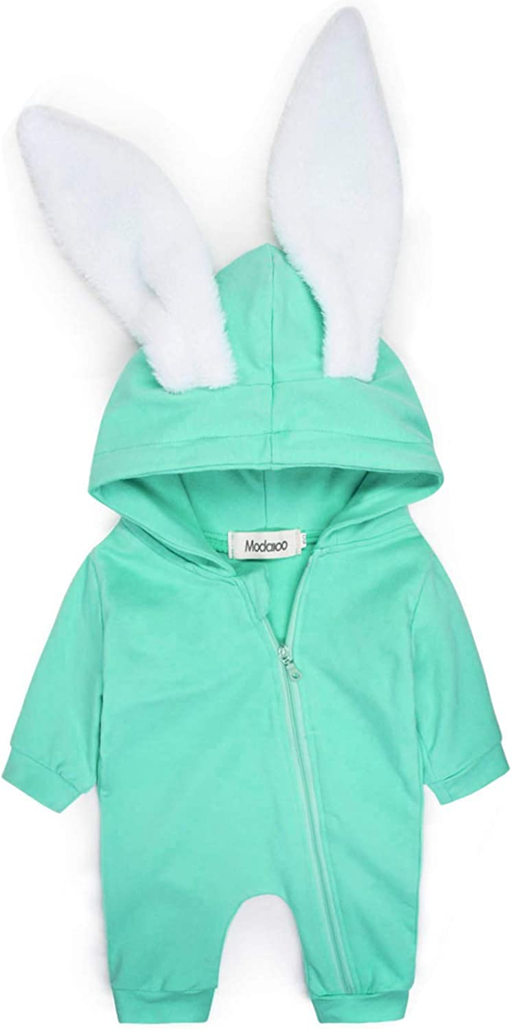 Rabbit Jumpsuits Unicorns Hoodie Zip Fleeze Outfit One Piece Playwears for Toddler Girls Boys ModaIOO Baby Dinosaurs Romper