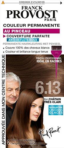 franck provost couleur permanente chtain trs clair 613 pinceau professionnel offert amazonfr hygine et soins du corps - Coloration Franck Provost