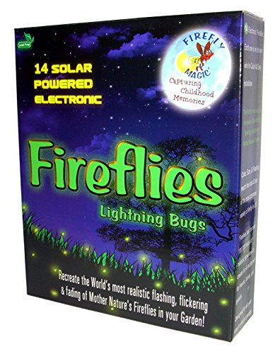 Firefly Magic Solar AND Battery-Operated Firefly Lights (Lightning Bug Lights), Model FMS-14S2, Firefly Green (1 Set) by Firefly Magic