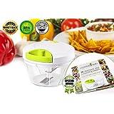 Cooking Guru Manual Vegetables/Food Chopper - Mini Vegetable Garlic/Onion/Salad Chopper, Banana/Apple/Avocado Slicer - Bonus Special Recipe eBook
