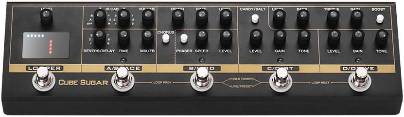 Muslady CUVAVE Pedal de Efectos Combinados con 72 Gabinetes IR Simulación 9 Loops Tuner Boost Overdive Distortion Chorus Phaser Delay Reverb Efectos