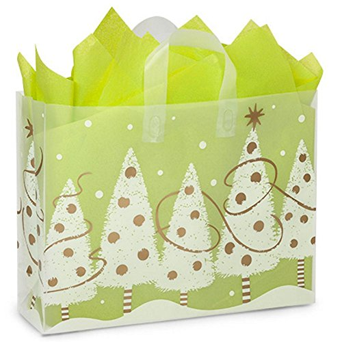Golden Trimmings Plastic Shopping Bags - Vogue Size - 16x5x12in. - 100 Pack by NW