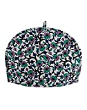 Ekavya White and Green Traditional Tea Cosy Cotton Arts and Craft TeaPot Decorative Kettle Cover Indian black Tea Cozy Green Printed Floral By