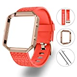 LEEFOX Compatible Fitbit Blaze Bands with Frame, Sport Silicone...