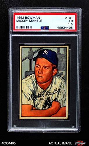 1952 Bowman # 101 Mickey Mantle New York Yankees (Baseball Card) PSA 1.5 - FAIR Yankees
