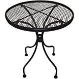 DC America WIT118 Charleston Wrought Iron End Table