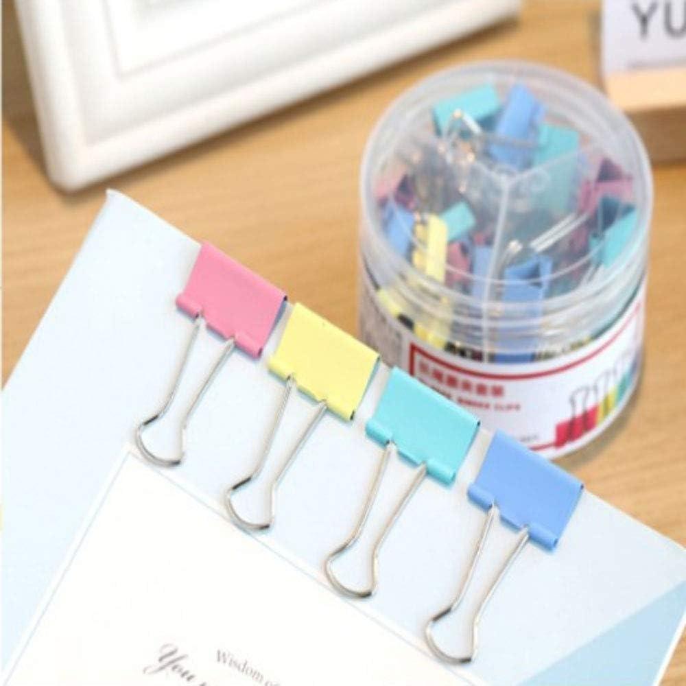 cancelleria per ufficio clip a coda lunga clip pieghevoli Hengrongyuan 25 mm 42 clip per bulldog articoli per la casa colori assortiti