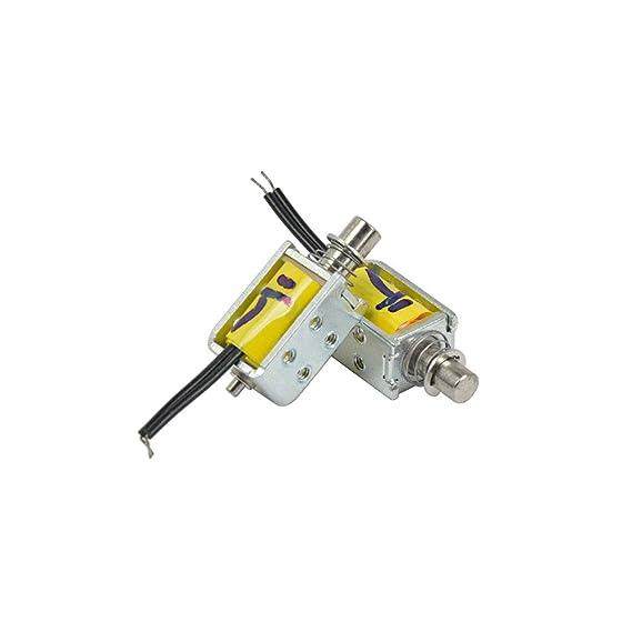 wrdxc 5 Piezas Micro DC Electroimán DC3V-6V Viaje 3.5 mm Push Pull Tipo Chasis Electromagnéticos para Electrodomésticos Imán: Amazon.es: Hogar