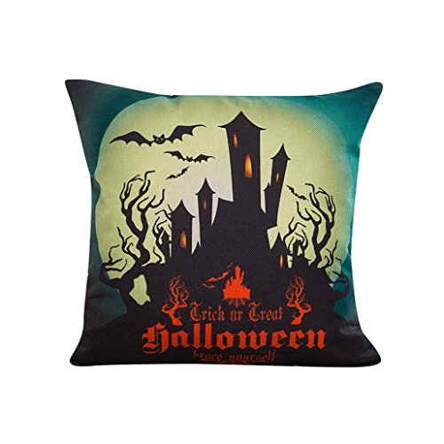 Halloween pillowcase,Laimeng,Sofa Bed Home Decor Pillow Case Cushion Cover (Multicolor (Cute Halloween Home Decor)