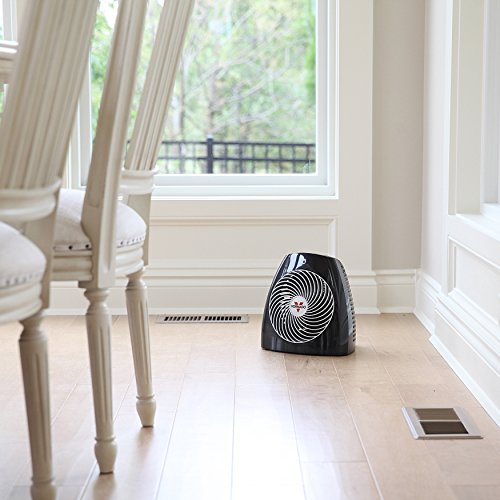 Vornado MVH Vortex Heater with 3 Heat Settings, Adjustable Thermostat, Tip-Over Protection, Auto Safety Shut-Off System, Black