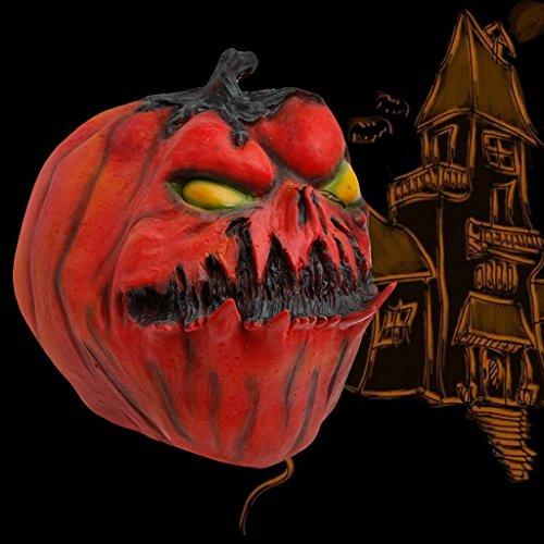 Facebabyone Halloween Scary Evil Latex Ugly Pumpkin Mask Full Face Fancy Dress Costume (Evil Pumpkin Faces)