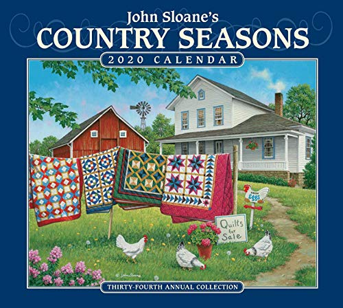Price comparison product image John Sloane's Country Seasons 2020 Deluxe Wall Calendar