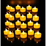 Daffodil LEC008 - LED Candles - Electric Flameless Tea Lights with Holders - Battery Included (White)