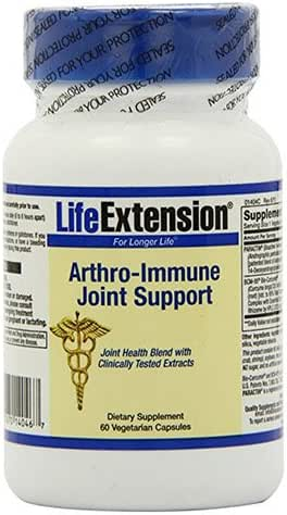 Life Extension Arthro-Immune Joint Support Vegetarian Capsules, 60 Count
