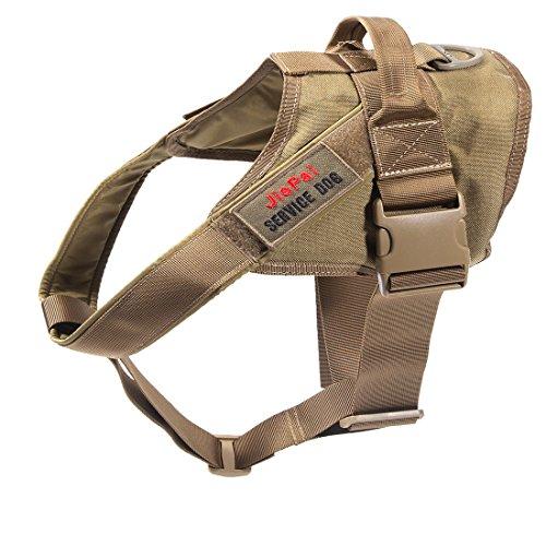 Harness Vest Military Training Patrol K9 Service Dog Vest Adjustable Working Dog Vest with Handle for Large Medium Dogs (Coyote Brown,L) ()