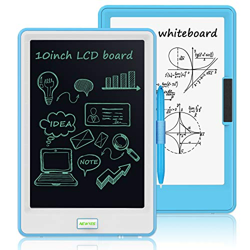 10 Inch LCD Writing Tablet, WOBEECO Electronic Drawing Tablet Kids Tablets Doodle Board Writing Pad for Kids and Adults at Home, School and Office with Lock Erase Button (Blue)
