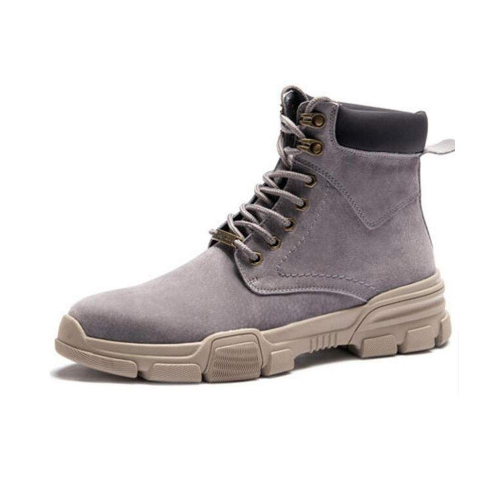 FH Herren High-Top-Schuhe in der der der Mitte der Wüste Kurze Stiefel Tooling Militärstiefel Wild England Martin Stiefel (Farbe   Schwarz, Größe   EU41 UK7.5-8 CN42) 4958ae