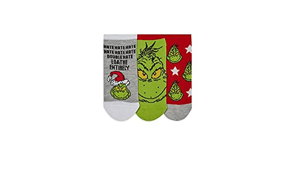 grinch - Calcetines cortos - para mujer Verde verde Medium: Amazon.es: Ropa y accesorios