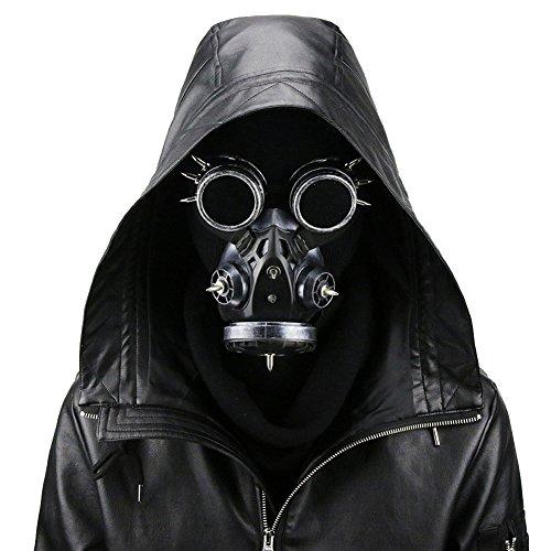 Steampunk Gas Goggles Skeleton Warrior Death Mask Masquerade Chrismas Cosplay Props (Crazy Mask)