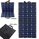 Solar Panel, MOHOO 100W Bendable Foldable Thin Lightweight Solar Panel Battery Charger with MC4 Connector Charging Sunpower Cells For RV, Boat, Cabin,Tent Car(Compatibility with 18V and Below Devices)