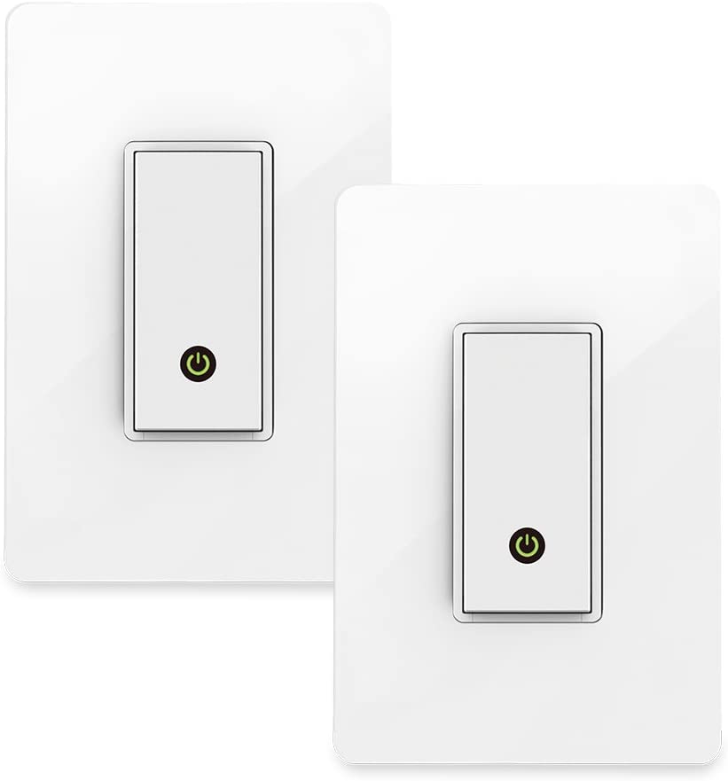 Wemo (F7C030-BDL) Smart WiFi Light Switch 2-Pack Bundle, Works with Amazon Alexa and Google Assistant, White