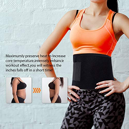 a8dffa96ada66 Portzon Exercise   Fitness Waist Belt Trainer Hot Thermal Neoprene Burn Fat  Exercise Slimming Body Shaper