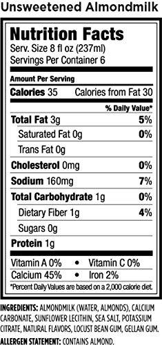Amazon.com : Califia Farms Almondmilk, Dairy Free, Whole30, Keto, Vegan, Plant Milk, Non-GMO, Unsweetened, 48 Oz (Pack of 8) : Grocery & Gourmet Food