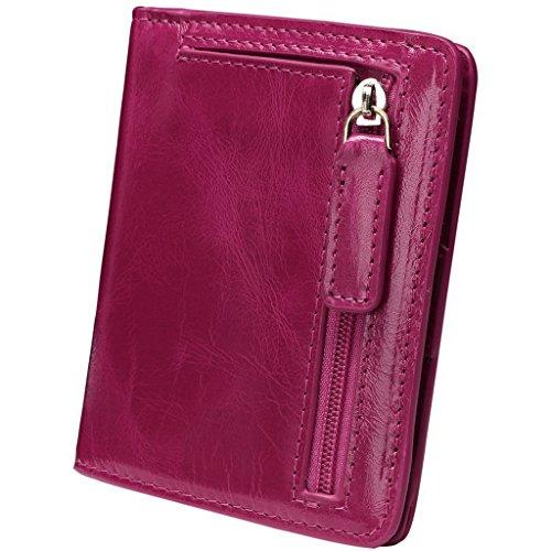 YALUXE Womens Leather Pocket Wallet