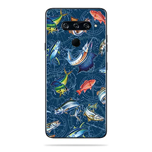 MightySkins Skin for LG V40 ThinQ - Saltwater Compass | Protective, Durable, and Unique Vinyl Decal wrap Cover | Easy to Apply, Remove, and Change Styles | Made in The USA