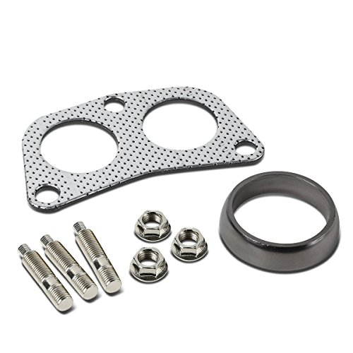 Honda Accord Header Pipe - Aluminum Gasket+Donut+Studs+Bolts for 4-2-1 Header/Downpipe Flange