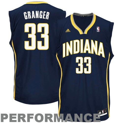 NBA adidas Danny Granger Indiana Pacers Youth Revolution 30 Performance Jersey - Navy Blue (Large)