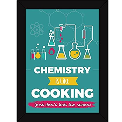 funny poster with quotes cooking and chemistry lovers framed for class and college walls amazon in home kitchen
