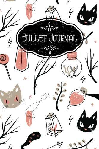 Black Cat Magic - Bullet Journal: Spooky Black Cat Magic Fall 160 Dot Grid Journaling Pages, 6 x 9 Blank Notebook with 1/4 inch Dotted Paper