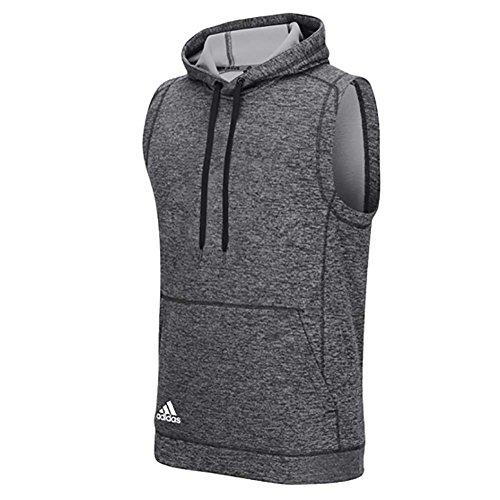 Adidas Mens Climawarm Team Issue Sleeveless Hoodie Grey L