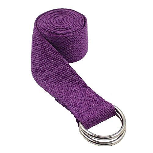zedtom 185x 4cm Sangle de yoga Ceinture Yoga Yoga Stretching Ceinture Yoga Strap, coton noir