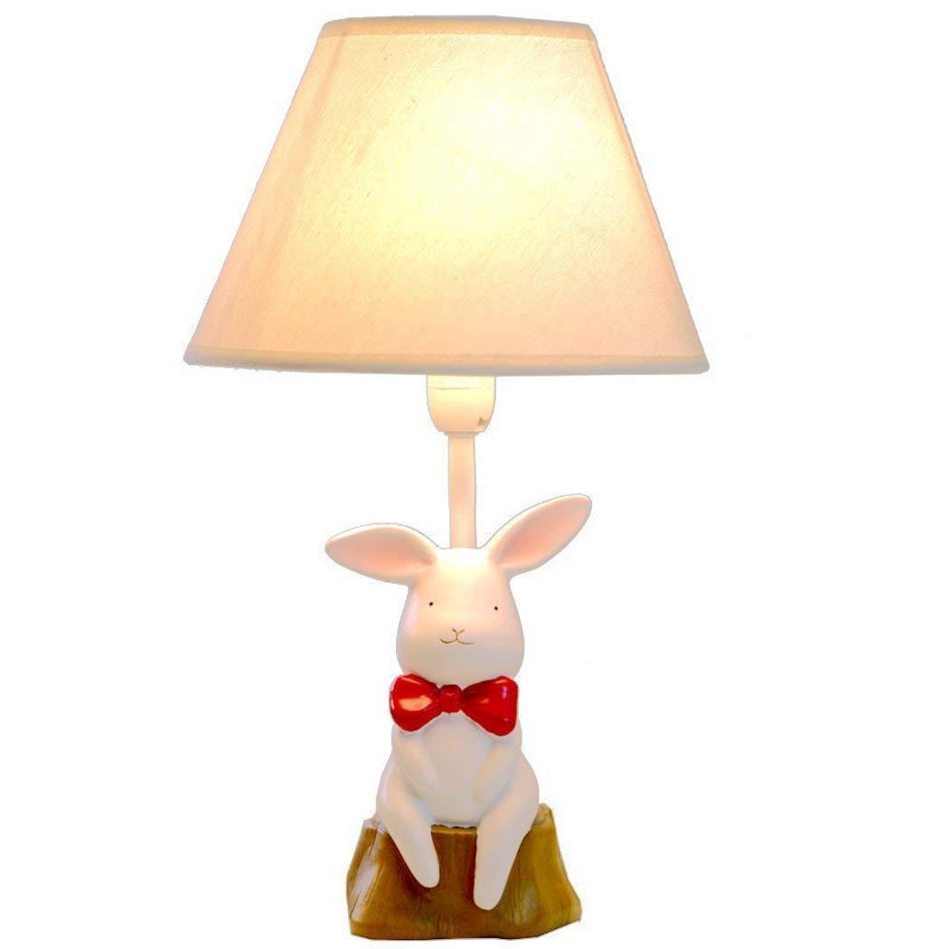Eeayyygch Kinder Cartoon Lampe kann gedimmt Werden kreative niedlichen Kaninchen tischlampe für die Kind Schlafzimmer nachttischlampe (Farbe   -, Größe   -)